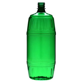 Plastic bottle 2 l green - barrel