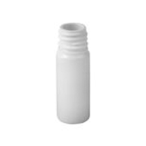 Plastic bottle 10 ml white, thread g18x3