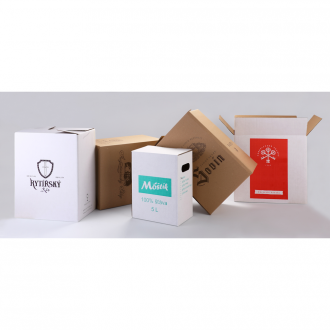 Set of expedition cartons with print