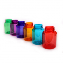 Plastic bottles with wide neck 200 ml color, thread GL44
