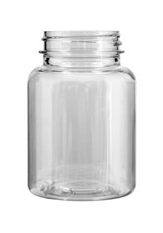 Plastic bottle with wide neck 150 ml limpid, thread GL44