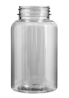 Plastic bottle with wide neck 250 ml limpid, thread GL44