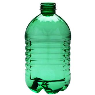 Plastic canister 3 l round green