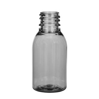 Plastic bottle 25 ml limpid, thread g18x3