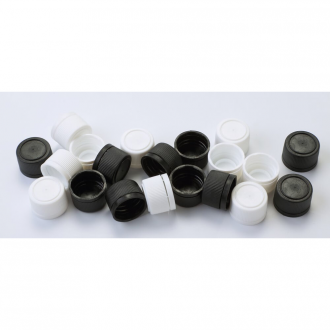 Set of plastic caps g18x3 - white and black