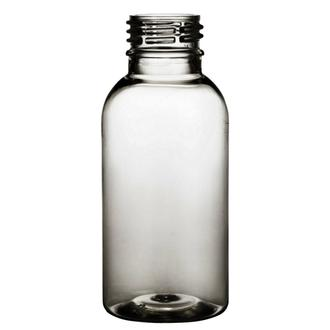 Plastic bottle 100 ml limpid, thread PCO 28
