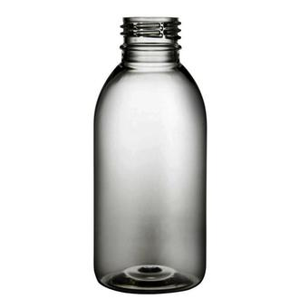 Plastic bottle 150 ml limpid, thread PCO 28