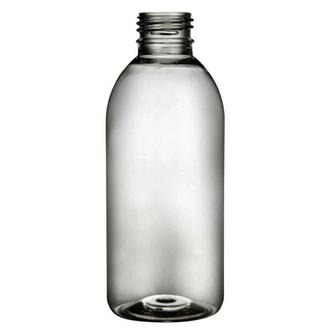Plastic bottle 250 ml limpid, thread PCO 28